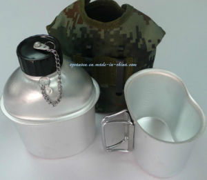 Aluminium Military Water Bottle with Mess Tin and Camouflage Fabric Cover pictures & photos