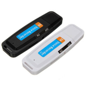 Mini USB Flash Drive U Disk Digital Audio Voice Recorder TF Recording pictures & photos