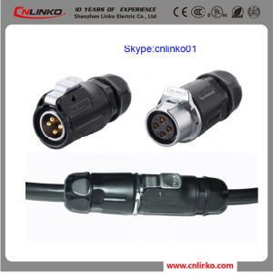 Waterproof 4pin Electrical Connector Power Applicaton Connector for Outdoor LED Light pictures & photos