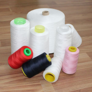 100% Polyester Spun Yarns Colorful Sewing Thread Virgin Fiber pictures & photos