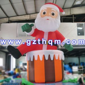 PVC Christmas Inflatable Large Santa Claus with High Quality pictures & photos