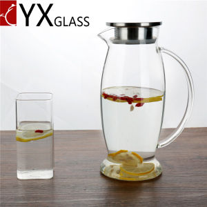 2L Big Volume Cold Water Pitcher/Cold Water Glass Jar/ODM OEM Cold Tea Juice Milk Glass Jars pictures & photos