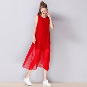 Summer Sleeveless Round-Neck Fashion Women′s Dress pictures & photos