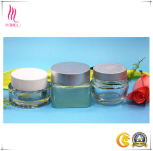 Facial Mask Glass Cosmetic Jars, Round Eye Cream Packaging Bottles pictures & photos