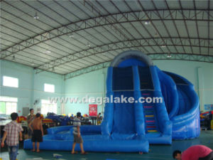Attractive New Style Inflatable Corkscrew Slide with Water Pool pictures & photos