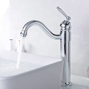 Flg Sanitary Ware Single Lever Deck Mounted Bathroom Mixer Tap pictures & photos