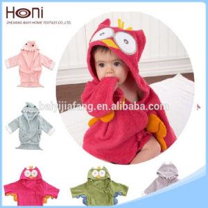 Cotton Fabric Cartoon Animal Baby Bathrobe pictures & photos