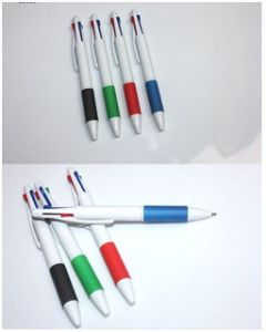 New Multi-Color Ball-Point Pen, 4 Color Ball-Point Pen Gift