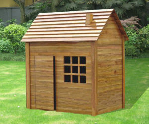 Children′s Outdoor Good Quality Wooden Playground Equipment Wood Playhouse