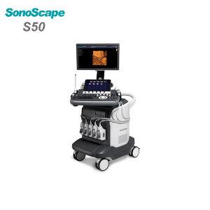 High Quality Ce FDA 4D Trolley Color Doppler Sonoscape S50 Ultrasound Machine pictures & photos