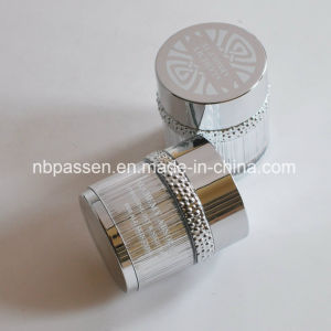 50g Glossy Silver Acrylic Cosmetic Jar with Particle Ring (PPC-NEW-101) pictures & photos