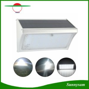 1000lm 56 LED Microwave Radar Sensor Remote Control Wall Mounted Wireless Solar Garden Light pictures & photos