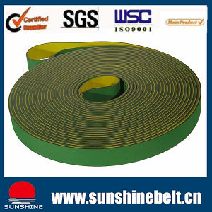Green and Yellow China Hot Sell Nylon Flat Transmission Belt pictures & photos