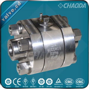 Socket Welded/Sw High Pressure Forged Ball Valve pictures & photos