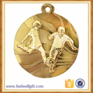 Customized Gold Plated Zinc Alloy Football Soccer Medals pictures & photos