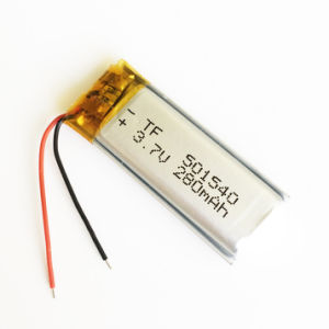501540 3.7V 280mAh Lithium Polymer Battery for Handheld GPS Navigator MP3 MP4 MP5 Bluetooth pictures & photos