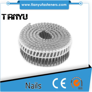 45# Harden Heat Treated Plastic Collated Coil Nails pictures & photos