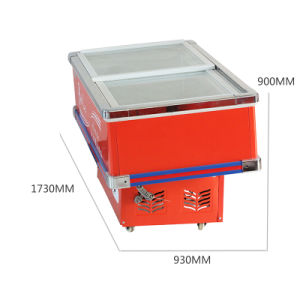 Highly Recommened Bevel Glass Door Seafood Freezer for Supermarket pictures & photos
