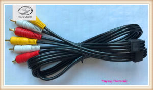 RCA Cable 3.5mm/3.5, 6.35mm/6.35, 6.5mm/6.5 Stereo Plug to 2xrca AV/TV Audio/Media Cable pictures & photos