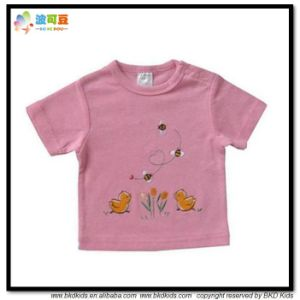 Pink Color Baby Clothes Soft Feeling Newborn Shirts pictures & photos