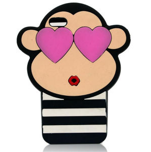 Monkey Wear Glasses Cartoon Silicone Case Cover pictures & photos