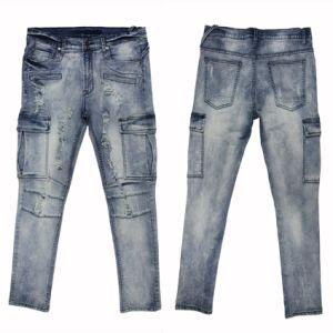 Men′s Straight Leg Slim Jeans (MYX03) pictures & photos