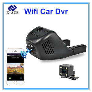 Full HD Two Camera Lens Auto Dashcam with Car DVR pictures & photos