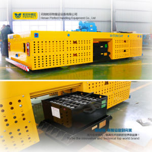 Metal Industry Use Motorized Handling Vehicle with Transfer Trolley pictures & photos