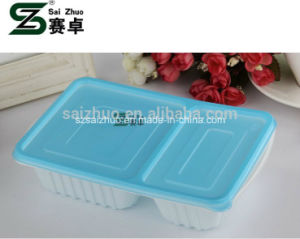 700ml 2 Compartment Disposable Plastic Lunch Box pictures & photos
