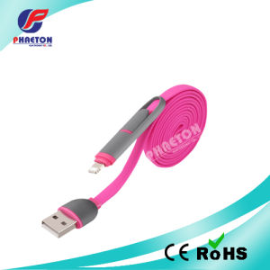 USB Charge Cable for iPhone Data Transfer Two in One pictures & photos