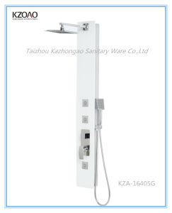 Kza-16405g Top Quality White Tempered Glass Shower Coloumn pictures & photos