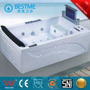 Latest Model Design with Multicolor Light Single Sex Massage Bathtub (BT-A612) pictures & photos