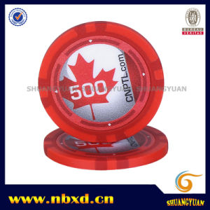 13.5g Clay Eight Stripe Poker Chip with Customize Sticker, Sy-E25b pictures & photos