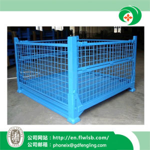 Foldable Wire Mesh Container for Warehouse by Forkfit pictures & photos