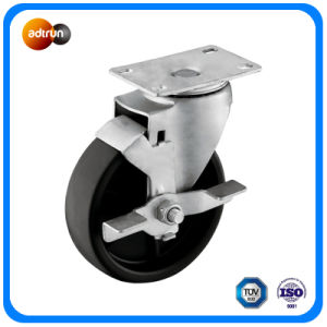 Medium Duty PP Casters with Wheel Brake pictures & photos
