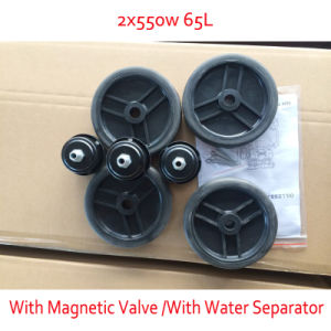 2X550W 65L with Double Pressure Gage Magnetic Valve Oilless Air Compressor pictures & photos