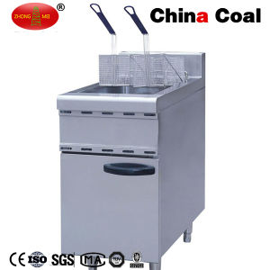 Energy-Saving Double Basket Gas Fryer Machine pictures & photos