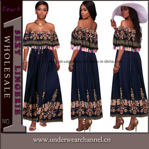 Latest Floral Printed Casual Boho Party Long Maxi Evening Dress (TOSM7114) pictures & photos