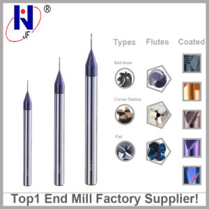 Tungsten Solid Carbide Micro Square Flat Mill Ball Nose End Mill From Top1 Factory pictures & photos