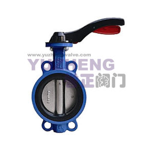 Ductile Iron Cast Iron Wafer Type Butterfly Valve pictures & photos