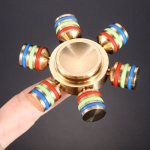 Three - Pointed Fingertips Gyro Decompression Toys Pure Copper Alloy pictures & photos