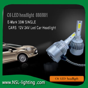 C6 LED Headlight for Cars Motorcycle Auto Parts H4 H13 9004 (9007) H1 H3 H7 H8 H9 H11 9005hb4 9006hb3 880 881 H15 9012 pictures & photos