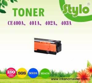 Ce400A/401A/402A/403A Color Laser Printer Cartridge Toner for HP Laserjet pictures & photos