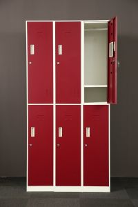 Lockers Manufacturer School Gym Police Military Supermarket 6 Door Locker pictures & photos