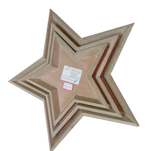 New Style Handicraft Christmas Tree Decoration Wooden Star pictures & photos