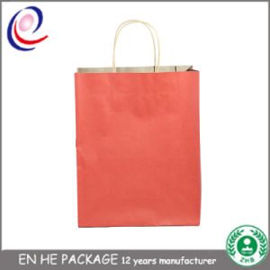 Factory Direct Shopping Bags Brown Kraft Paper Bags for Shopping pictures & photos