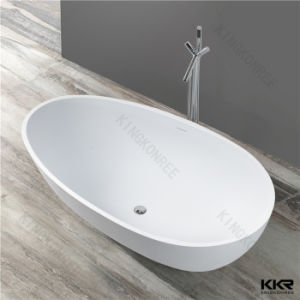 Solid Surface Bathroom Freestanding Artificial Stone Bathtub pictures & photos