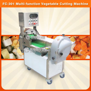 Root and Leafy Vegetabel Carrot Cube Cutting Slicing Machine for Restaurant Using (FC-301) pictures & photos