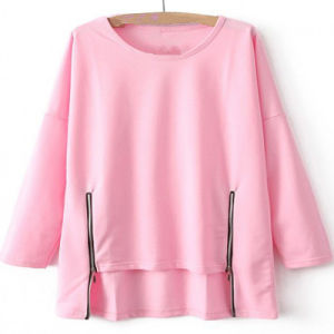 Fashion Trendy Women′s Long Sleeve Pink T Shirts (ELTWTI-5) pictures & photos