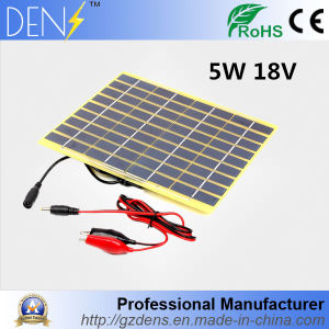 Polycrystalline Silicon 5W 18V Solar Panel for Mobile Phone Charging pictures & photos
